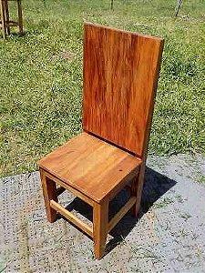 Cadeira De Madeira -  Peroba Rosa - Madeira De Demolição