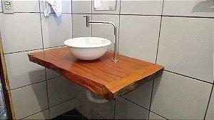 Bancada Para Banheiro Ou Lavabo - Madeira Peroba Rosa