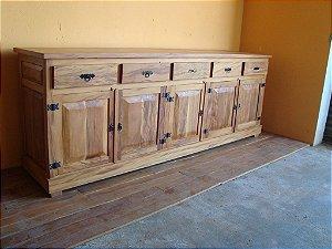 Buffet em madeira maciça - 100% Peroba Rosa - Modelo Exclusivo