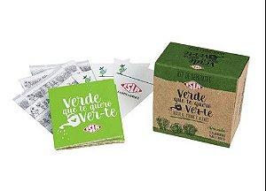 Kit De Sementes - Verde Que Te Quero Ver (Alface, Couve e Rúcula)
