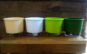 Kit Vasos Autoirrigáveis - Tamanho 02 - 4 Unidades