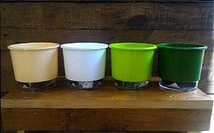 Kit 4 Vasos Autoirrigáveis P/ Plantas - Tamanho 03