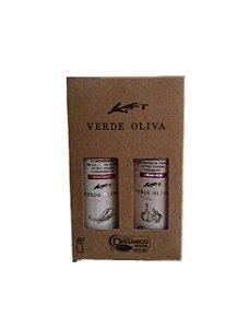 Kit De Condimento Azeite Oliva - Verde Oliva