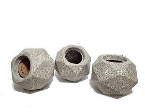 Vaso Quartzo - 11 Granito - 1 Vaso para suculentas