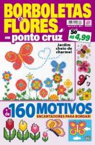 BORBOLETAS E FLORES EM PONTO CRUZ - EDIÇÃO 2 (2017)