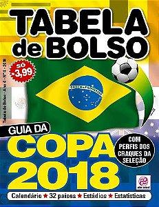 TABELA DE BOLSO - EDIÇÃO 4 - COPA 2018