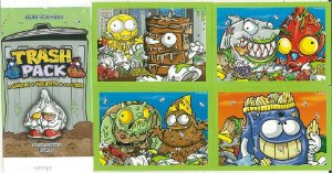 ENVELOPE 4 FIGURINHAS - TRASH PACK