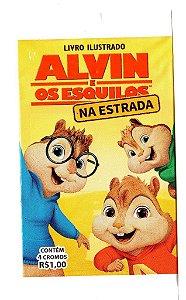 ENVELOPE 4 FIGURINHAS - ALVIN E OS ESQUILOS NA ESTRADA