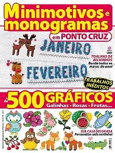 MINIMOTIVOS E MONOGRAMAS EM PONTO CRUZ - 9 (2016)