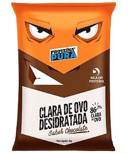 Clara de Ovo Desidratada Chocolate - 1Kg - Proteína Pura
