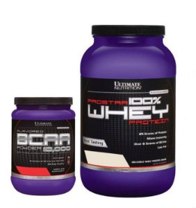 Combo Whey Prostar - 907g + BCAA Powder 12.000 - 228g - Ultimate Nutrition