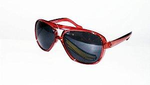 Óculos de Sol Vermelho com Lente Redonda