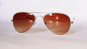 Óculos de Sol Aviador Branco