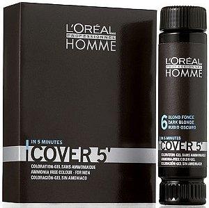 L'Oréal Professionnel Homme Cover 5' - Louro Escuro Nr. 6 - 3x50ml