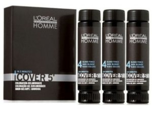 L'Oréal Professionnel Homme Cover 5' - Castanho Nr. 4 - 3x50ml