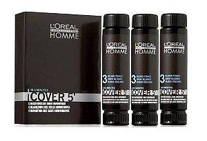 L'Oréal Professionnel Homme Cover 5' - Castanho Escuro Nr. 3 - 3x50ml