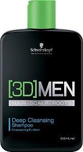 Schwarzkopf [3D]MenSion Deep Cleansing - Shampoo Anti-Oleosidade 250ml