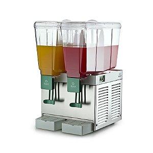 Refresqueira Elétrica 2 sabores 15 litros cada reservatorio BBS-2 IBBL