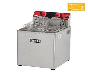 Fritadeira Elétrica Mesa 15 Litros 8000w Zona Fria 220V Croydon