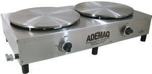 Máquina de Crepe Francês/Panqueca 02 discos á gás Ademaq