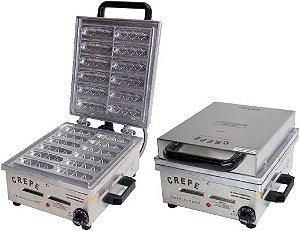 Máquina de Crepe Suiço/Palito 12 Cavidades Elétrica 1.600W Ademaq