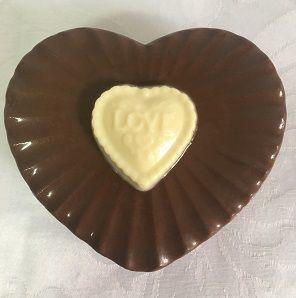 Coração de Chocolate - Porta Bombons