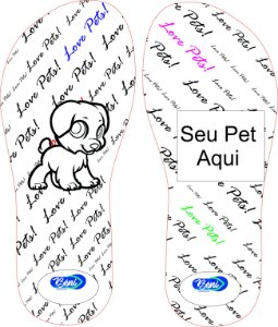 Chinelo Personalizado My Pet