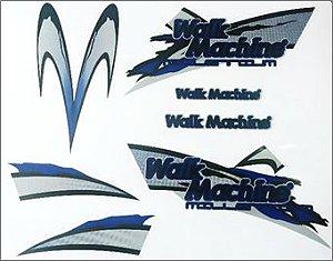 Adesivo Original Walk Machine Azul