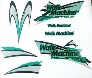 Adesivo Original Walk Machine Verde