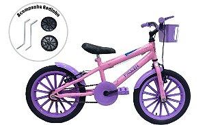 Bicicleta Infantil Aro 16 Grafitada Frozen