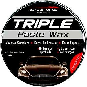 Cera Automotiva Carnaúba Triple Paste Wax Cera De Carro 100g