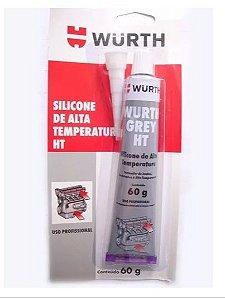 Silicone Neutro HT de Alta Temperatura 60g Grey (Cinza) Wurth