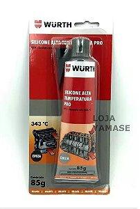 Adesivo Silicone de alta temperatura 343ºc PRO (Cinza) Wurth
