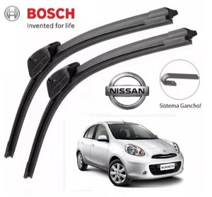 Palheta Parabrisa Bosch Original Nissan March 2011 A 2018