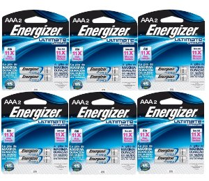 12 Pilha Aaa2 1.5v Lithium Litio Ultimate Palito Energizer
