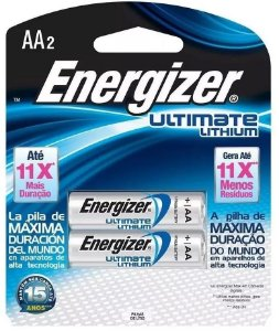 Pilha AA2 1.5v Lithium Litio Energizer Ultimate