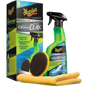 Kit Clay Ceramic Meguiars Sílica Hybrid Descontaminante