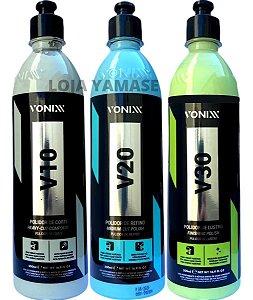 V10 Polidor Corte + V20 Refino + V30 Lustro Vonixx 500ml