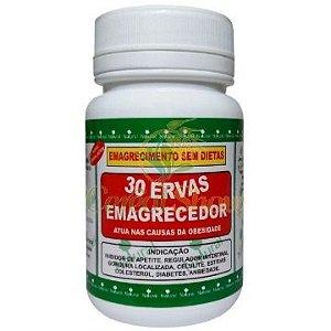 30 ERVAS EMAGRECEDOR 60 CAPS 500mg