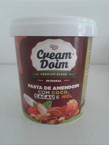 PASTA DE AMENDOIM COM COCO, CACAU E MEL 500G CREAM DOIM PREMIUM BLEND