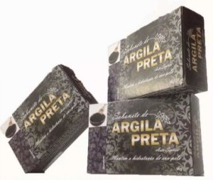 SABONETE NATURAL COM ARGILA PRETA 90G BIONATURE