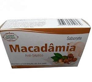 SABONETE NATURAL DE MACADÂMIA 90G LIANDA NATURAL