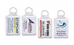 Chaveiro PVC 2 cores 100 á 200 unidades