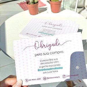 Cartão de motivação para cliente