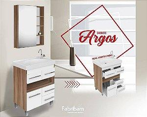 Conjunto Argos 60cm Branco c/ Amendoa