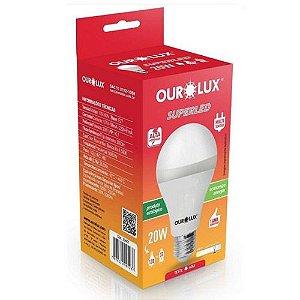 Lâmpada Led 20w Luz Branca Fria 6500k - Ourolux