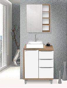 Conjunto Banheiro Allure Gengibre 70cm - Fabribam