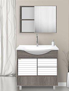 Conjunto Banheiro Theo Etna c/ Branco 75cm - Fabribam
