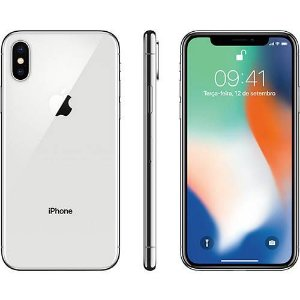 "iPhone X Prata 64GB Tela 5.8"" IOS 11 4G Wi-Fi Câmera 12MP - Apple"