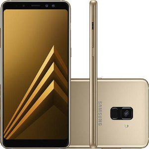 "Smartphone Samsung Galaxy A8 Plus Dual Chip Android 7.1 Tela 6"" Octa-Core 2.2GHz 64GB 4G Câmera 16MP - Dourado"